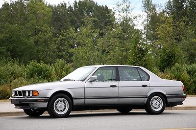 BMW : 7-Series 750iL 1989 bmw 750 il beautifully preserved dealer maintained all recirds