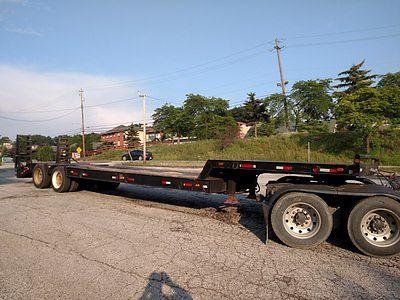 35 ton Gibbs Semi Step-Deck Lowboy Equipment Trailer