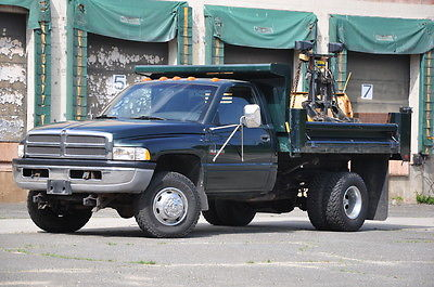 Dodge : Ram 3500 Dump - Dually - 4x4 - 5.9L Cummins Turbo DIESEL Dump - Dually - 4x4 - 5.9L Cummins Turbo DIESEL - 39-K Low Miles - Fisher Plow