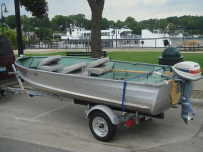 14 Ft Aluminum Boat And Trailer Boats for sale