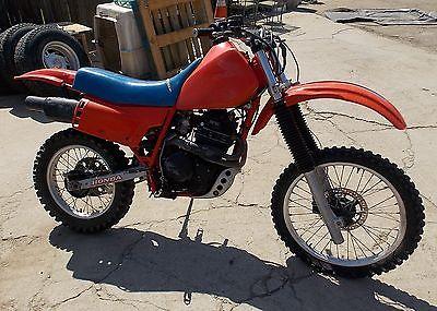 Honda : XR 1984 honda xr 500 500 500 cc motorcycle vintage dirt bike