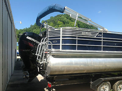 2012 Harris Royal 270 Merc 250HP Pro Verado Tritoon Tri axle trailer 18pass