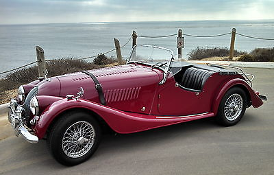 Other Makes Morgan +4, Red with Black Leather Interior, Matching Numbers, TR4 Engine