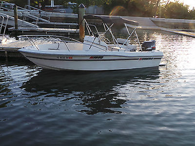 19 Ft Center console  Fishing boat 140 HP Suzuki 4 stroke outboard Alum. Trailer