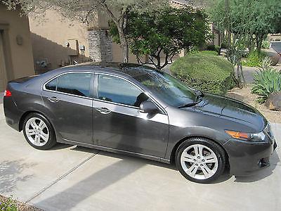 Acura : TSX V6 Sedan 4-Door 2010 acura tsx v 6 w paddle shifters 80 700 miles dark grey local sale only