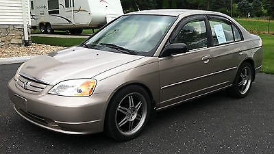 Honda : Civic LX 2002 honda civic lx sedan 4 door 1.7 l automatic recent service 120 k