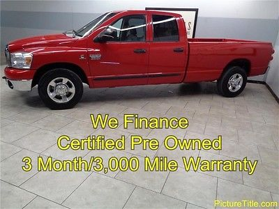 Dodge : Ram 3500 SLT 2WD Quad Cab Cummins Diesel 07 ram 3500 2 wd quad long bed cummins diesel warranty we finance texas