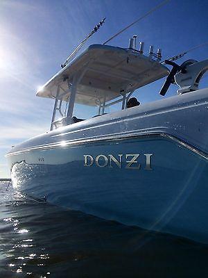 2009 DONZI 38 ZFXO center console tripp merc 300 offshore boat jl audio garmin