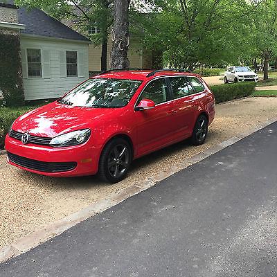 Volkswagen : Jetta TDI Wagon 4-Door 2013 volkswagen jetta tdi sport wagon red excellent condition vw goal 17 wheels