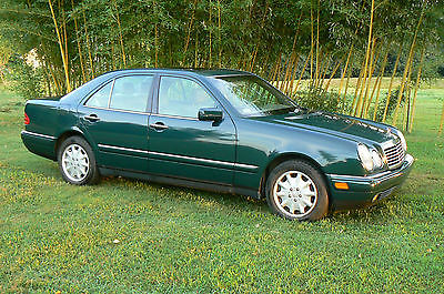 Mercedes-Benz : E-Class 320 1998 green mercedes benz e class 320 210 body 4 door sedan tan leather 161 000