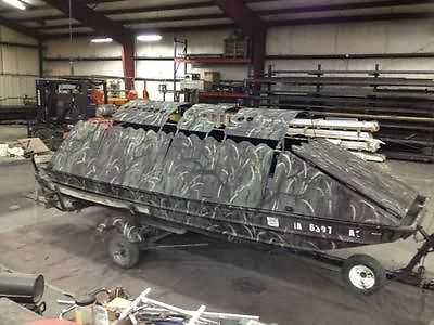 16 ft 5 wide Duck boat, fully loaded