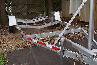 21 ft 5,000 lb boat trailer frame - good tires 2