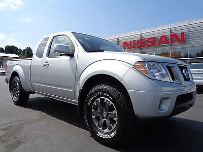 Nissan : Frontier King Cab 4x4 Pro-4X Silver Nav Heated Seats Silver 2015 nissan frontier pro 4 x king cab 4 x 4 4.0 l v 6 navigation tow hitch 4 wd video