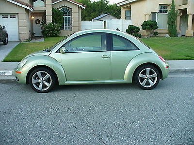 Volkswagen : Beetle-New Green Beautiful California Rust Free  Volkswagen Beetle  Gecko Green 73,000 Miles