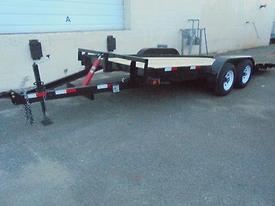 New 18 ft 10 K Tilt Car Equipment Utility Tractor Bobcat Hauling Trailer