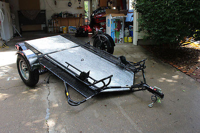 Used Kendon Dual Folding Stand-Up Motorcycle ATV or Trailer w/Spare Tire