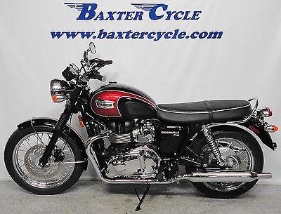 Triumph Bonneville T100 Jet Black Cranberry Red Motorcycles For Sale