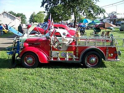 Ford : Other 1948 anglia english ford fire truck unique one of a kind