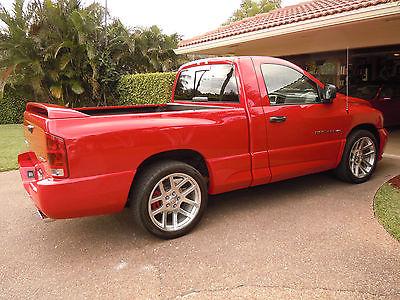 Dodge : Ram 1500 SRT 10 2004 ram srt 10 red 6 speed manual