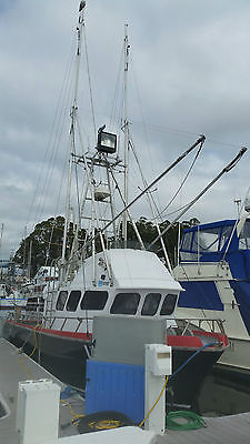 Charter fishing and commercial salmon fishing boat