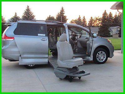Toyota : Sienna XLE V6 8 Passenger 2013 sienna xle braun ramp van v 6 3.5 l v 6 24 v automatic fwd minivan van gps