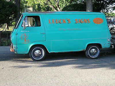 Ford : Other Pickups no trim 1961 ford econoline 5 window van