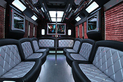 Ford : Other Pickups LIMOUSINE BUS  2015 ford f 550 gas white limo bus seats 25 passenger blow out pricing