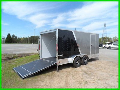 2015 look 7x16 2ftv 18ft inside enclosed cargo motorcycle toy hauler trailer New