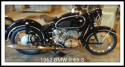 BMW : R-Series 1962 bmw r 69 s black white pinstriped fully restored immaculate must see
