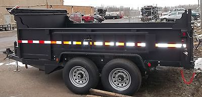 New 2015 Quality 7 x 14 14K Dump Equipment Trailer with Ramps