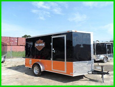 2015 v nose 7x12 Free Harley Davidson decals enclosed toy hauler Trailer New