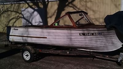 Vintage 1962 Thompson Wood Runabout Boat