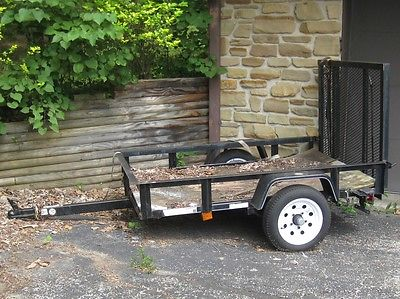 Utility Trailer 4-ft x 6-ft Wire Mesh with Gate