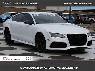 Audi : Other Prestige AWD AUDI CERTIFIED Used 15 Audi RS7 Navigation Bluetooth Camera Drivers Assist AWD Black Leather