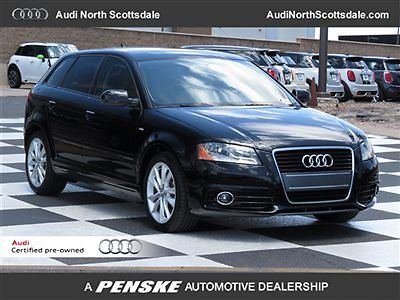 Audi : A3 Premium Package Hatchback Audi Certified Used 2012 Audi A3 Black Leather Bluetooth CPO FWD Pano Roof