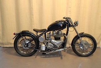 Other Makes : MONARCH 650 1966 super rare matchless monarch blue classic british bobber bike