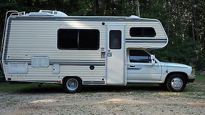 1989 Toyota Motorhome Rv Camper 21ft Low Miles V6 Auto Overdrive Must See