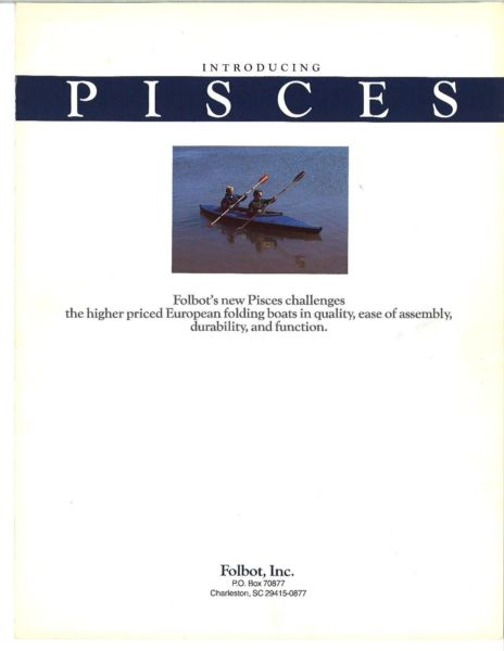 2 person Folbot Pisces