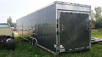 3 cars enclosed trailer 48 feet title in hand