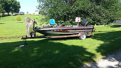 16ft PROCRAFT FISHING BOAT WITH TROLLING MOTOR AND 90HP MERC