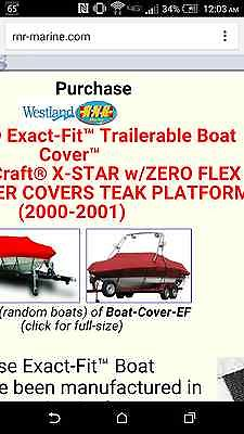 New in Box Custom Travel Boat Cover for 2000-2001 Mastercraft X-Star with Tower