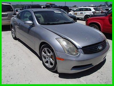 Infiniti : G35 2dr Cpe Auto w/Leather 2003 2 dr cpe auto w leather used 3.5 l v 6 24 v rwd premium