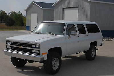 Chevrolet : Suburban 3/4 ton 1990 suburban 3 4 ton 4 x 4 off frame restoration