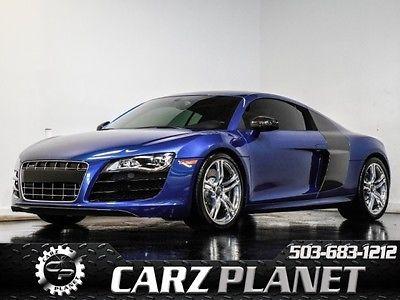 Audi : R8 5.2 V10 quattro RARE Blue W/ Stasis Exhaust 2010 audi r 8 5.2 v 10 quattro stasis exhaust similar to gallardo gt r ferrari