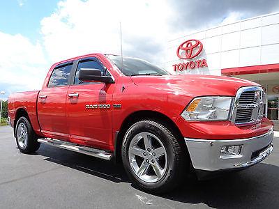 Dodge : Ram 1500 Crew Cab 4x4 SLT 5.7L Hemi V8 4WD Red Big Horn 2012 ram 1500 crew cab 5.7 l hemi 4 x 4 slt big horn 1 owner carfax 4 wd red video