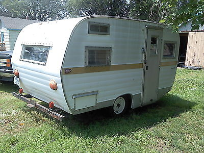Vintage 1968 Forester Canned Ham Camper 12' Tear Drop Trailer Small Tiny