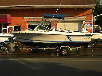 1988 Wellcraft V 20 Step Lift awesome fishing boat Merc 4cyl FWC, bimini, trl