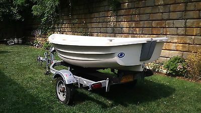 2008 Walker Bay 10 Sail Power Row Dighny Tender Boat Inflatable Rid 310 Trailer