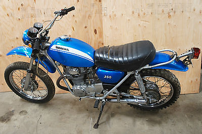 Honda : Other 1971 1972 honda sl 350 motorcycle sl 350 enduro original paint 7101 miles
