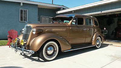 Chevrolet : Other special deluxe 4 door sedan fully restored gold 1937 chevy master deluxe 4 door suicide bomb